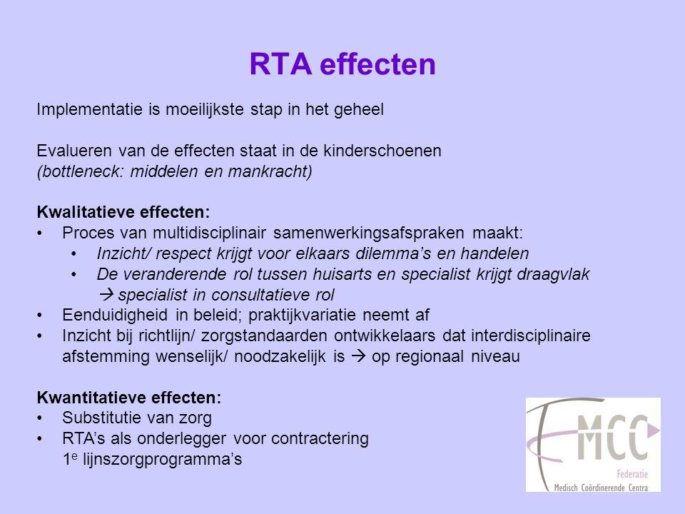 RTA effecten Implementatie is moeilijkste stap in het geheel