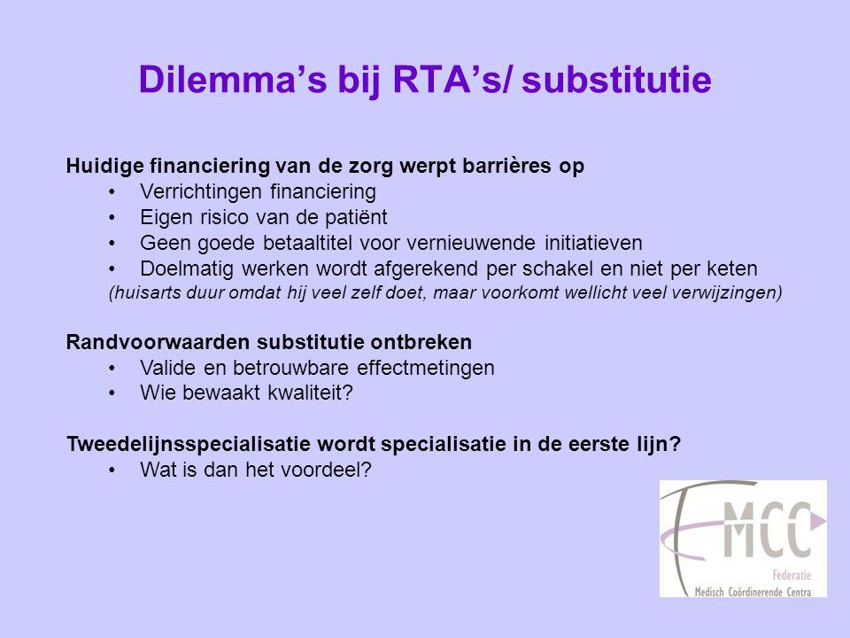 Dilemma's bij RTA's/ substitutie