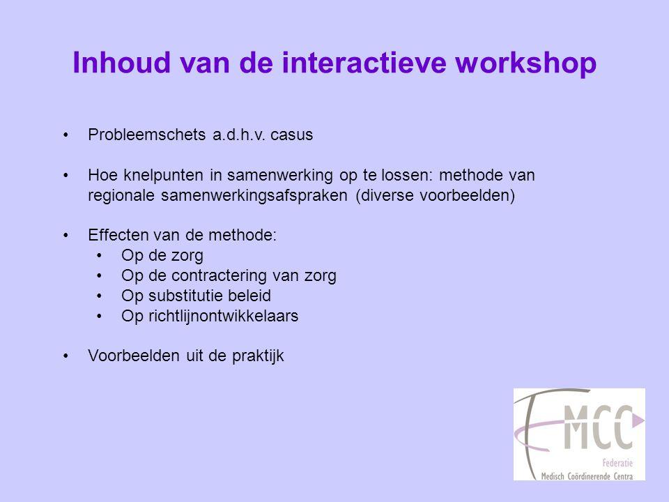 Inhoud van de interactieve workshop