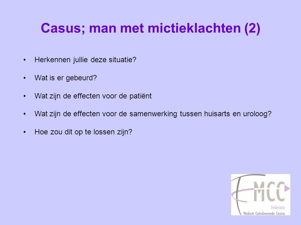 Casus; man met mictieklachten (2)