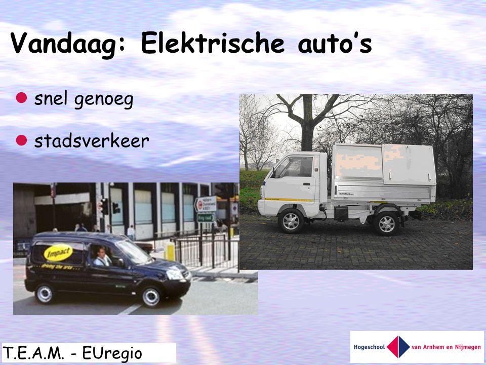 Vandaag: Elektrische auto's