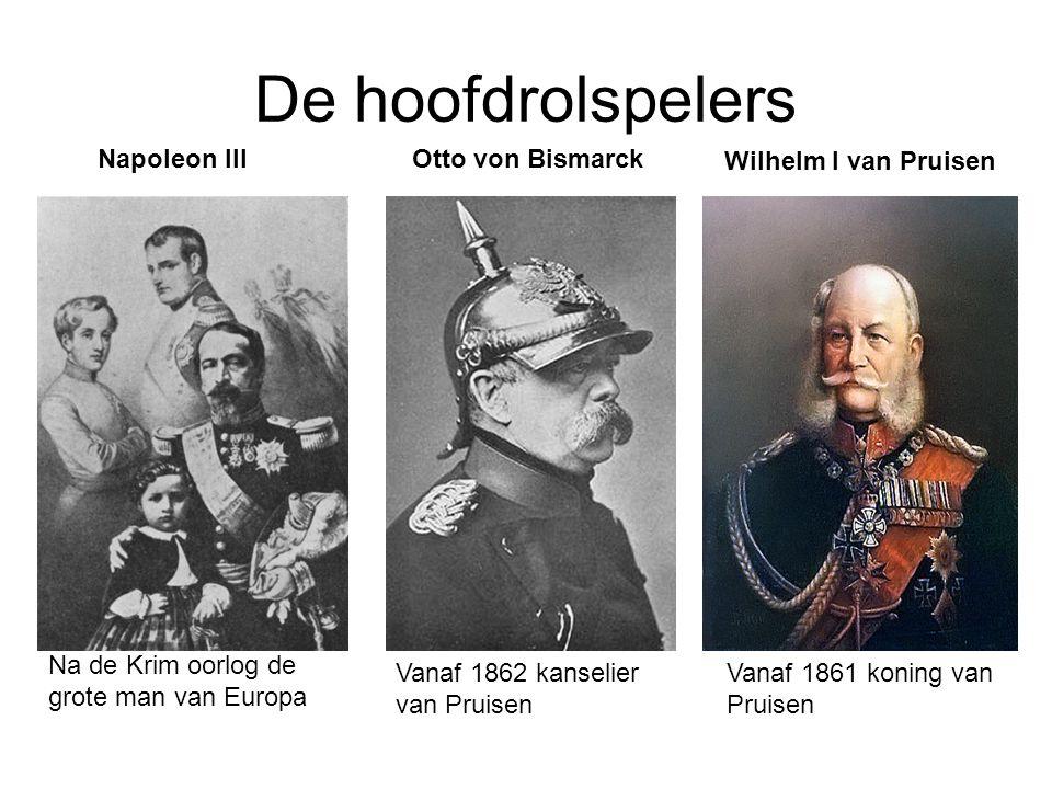 De hoofdrolspelers Napoleon III Otto von Bismarck