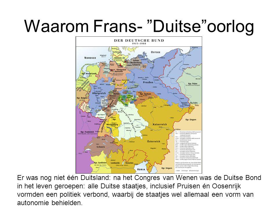 Waarom Frans- Duitse oorlog