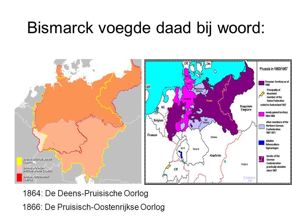 Bismarck voegde daad bij woord: