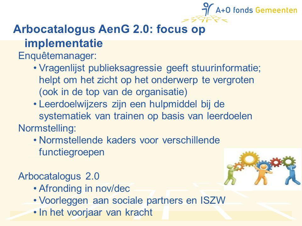 Arbocatalogus AenG 2.0: focus op implementatie