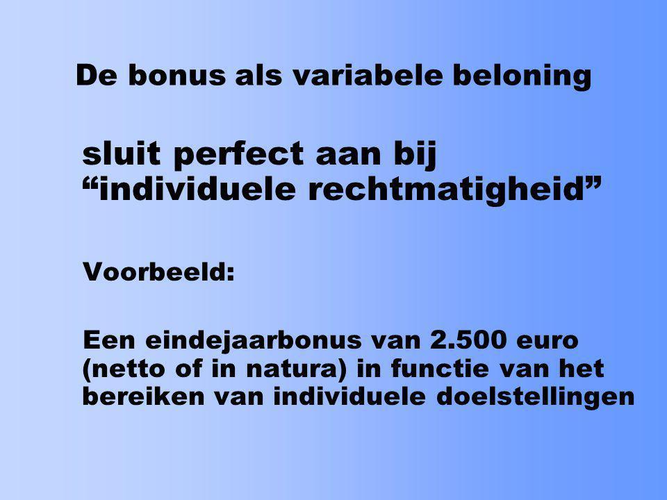De bonus als variabele beloning