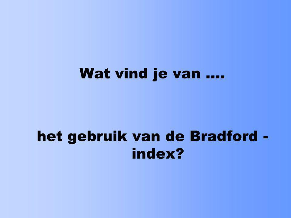 het gebruik van de Bradford - index