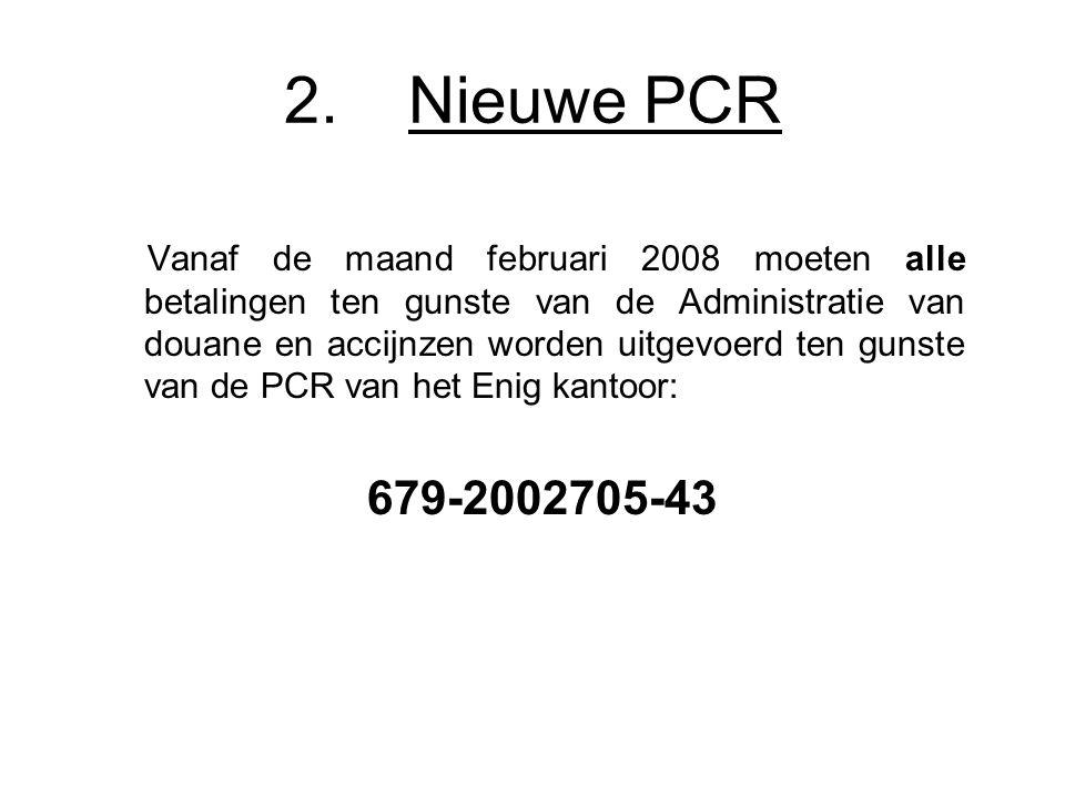 2. Nieuwe PCR