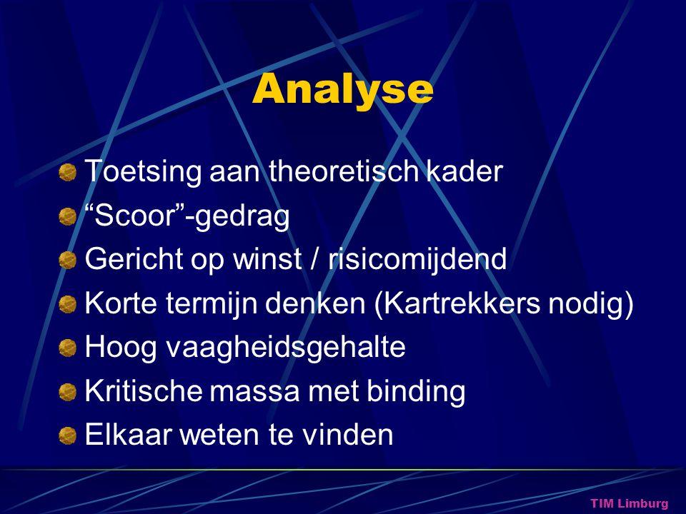 Analyse Toetsing aan theoretisch kader Scoor -gedrag