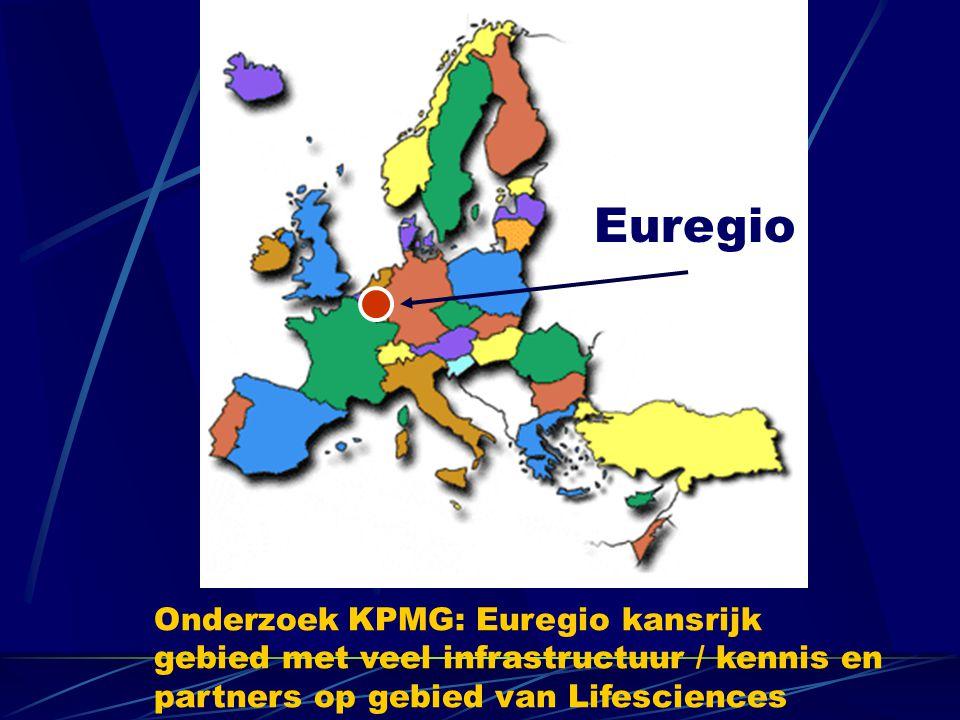 Euregio Onderzoek KPMG: Euregio kansrijk gebied met veel infrastructuur / kennis en partners op gebied van Lifesciences.