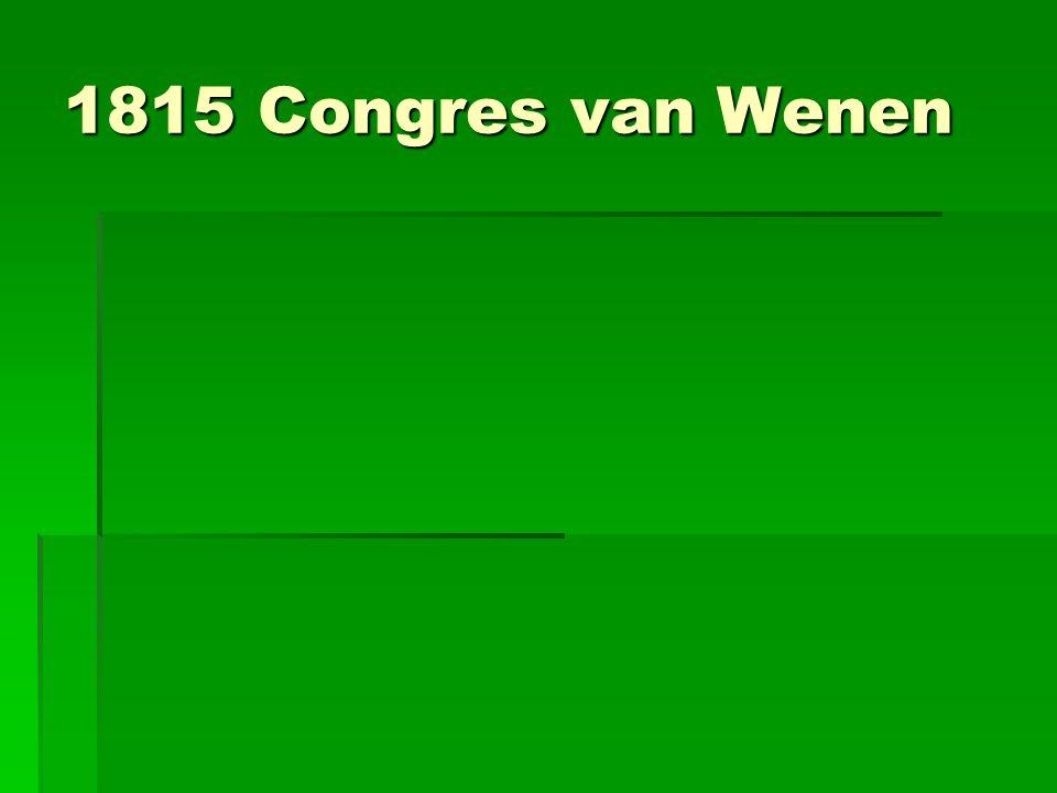 1815 Congres van Wenen