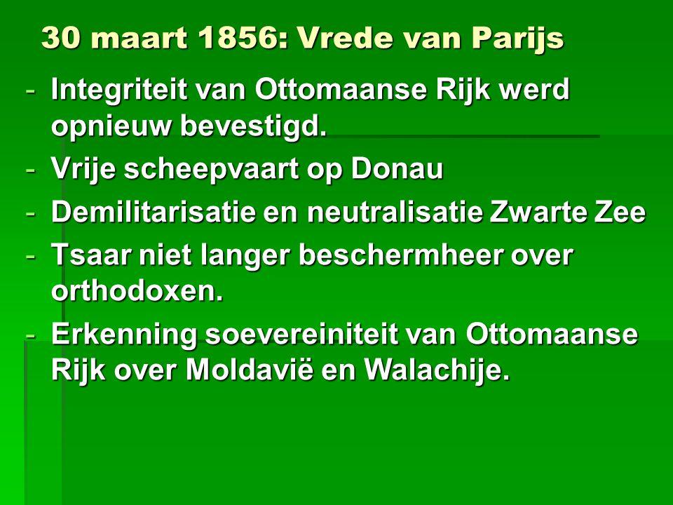 30 maart 1856: Vrede van Parijs