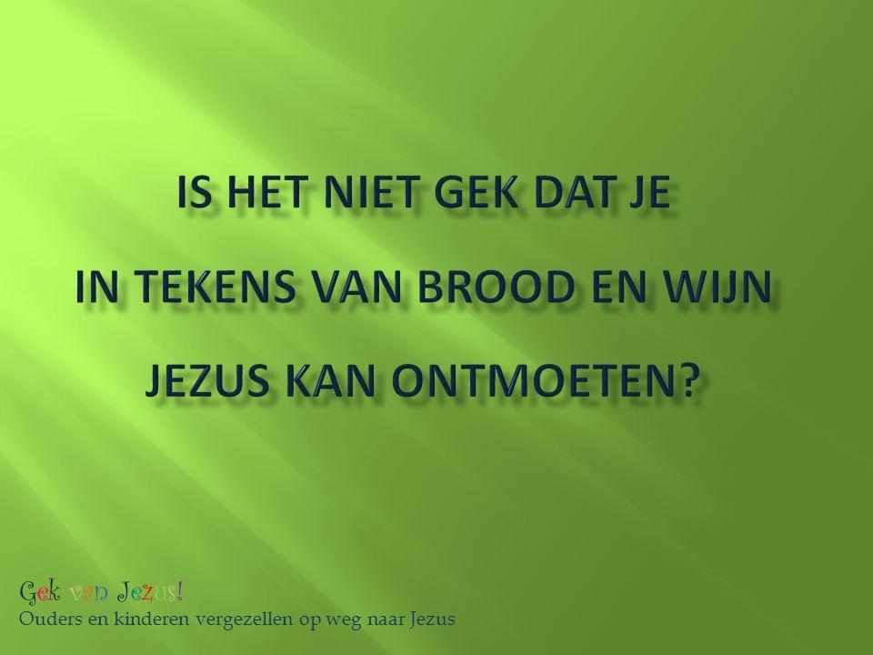 Is het niet gek dat je in tekens van brood en wijn Jezus kan ontmoeten