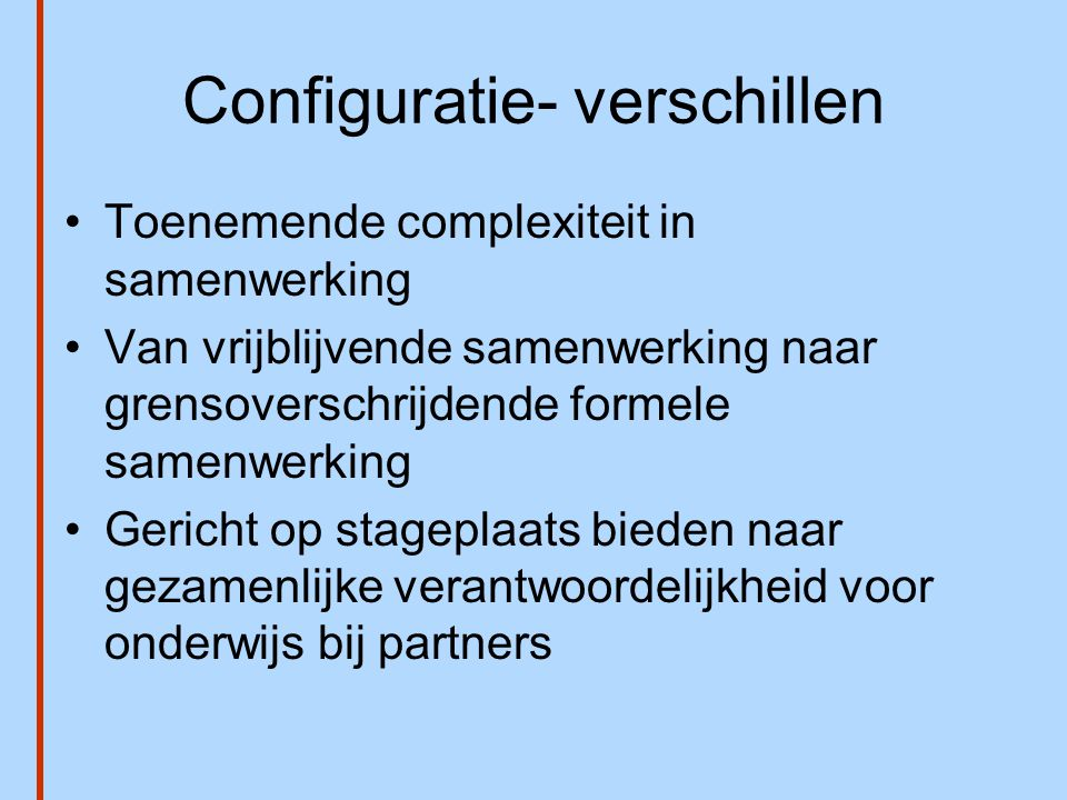 Configuratie- verschillen