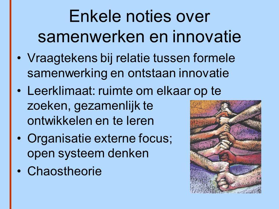 Enkele noties over samenwerken en innovatie