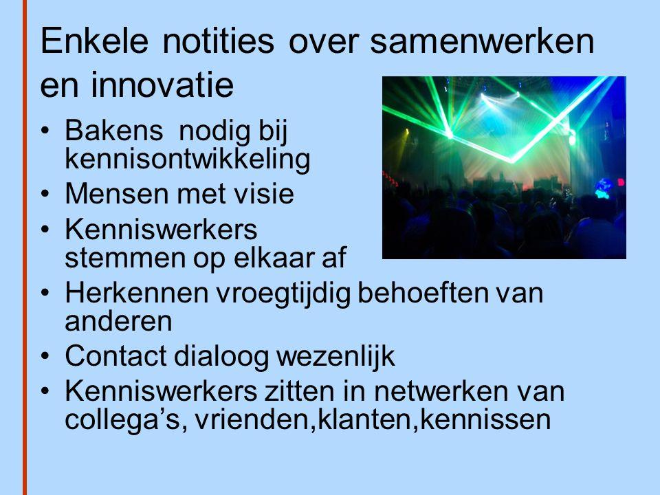 Enkele notities over samenwerken en innovatie
