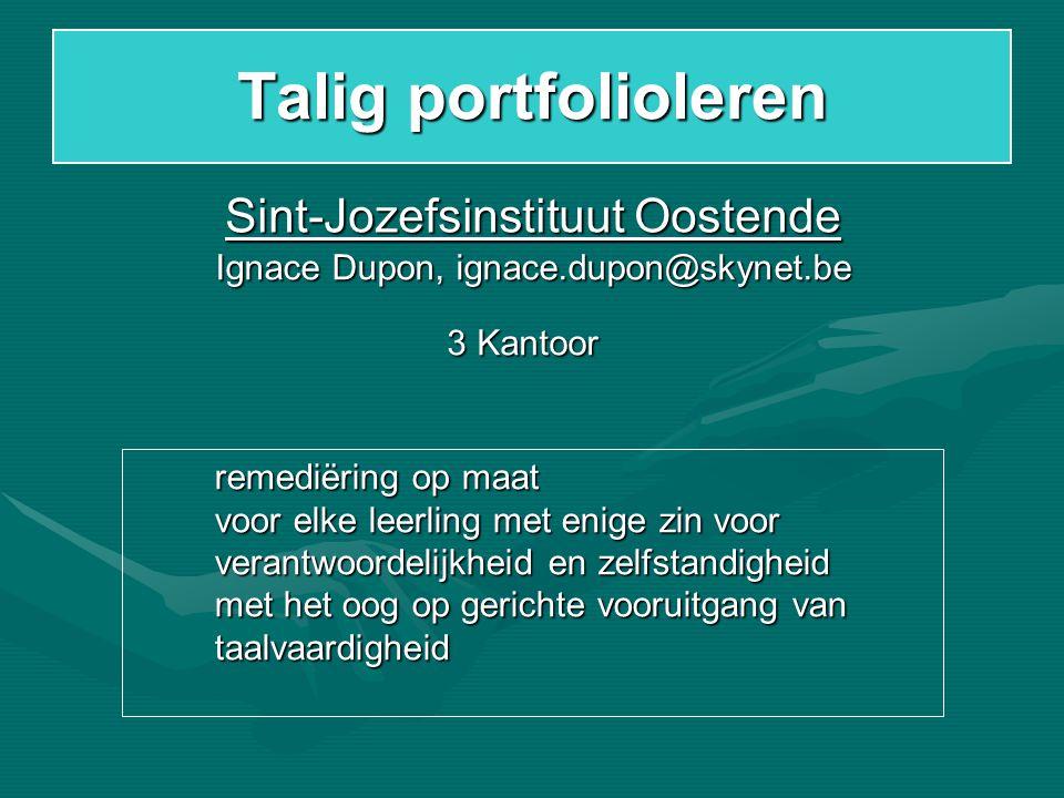 Talig portfolioleren Sint-Jozefsinstituut Oostende