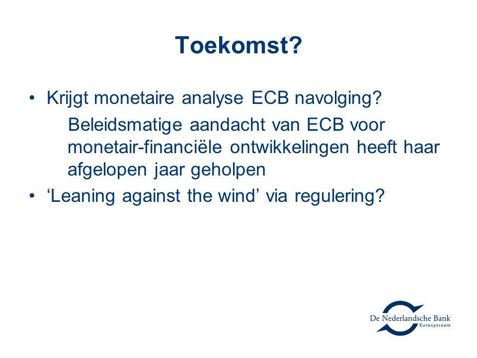 Toekomst Krijgt monetaire analyse ECB navolging