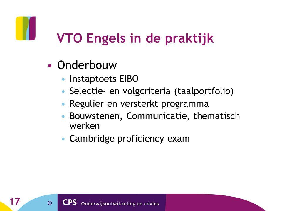 VTO Engels in de praktijk