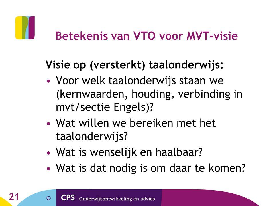 Betekenis van VTO voor MVT-visie