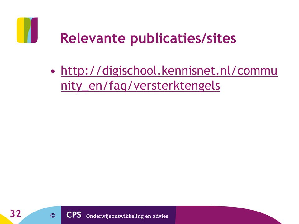 Relevante publicaties/sites