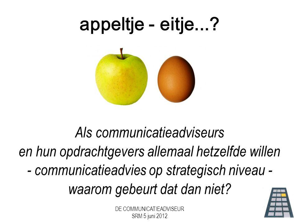 appeltje - eitje... Als communicatieadviseurs