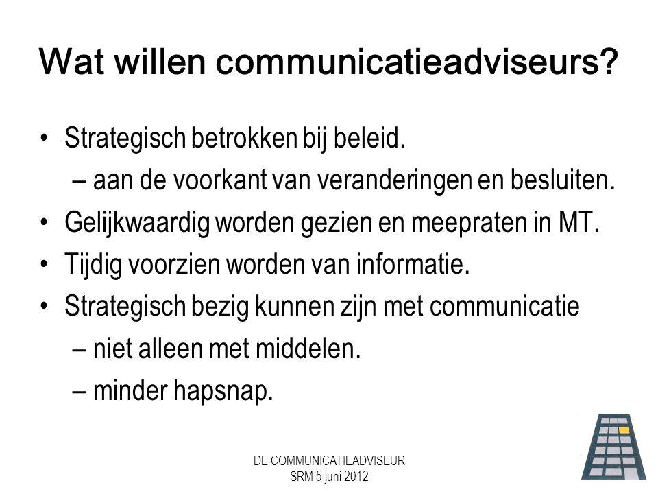 Wat willen communicatieadviseurs