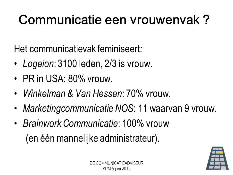 Communicatie een vrouwenvak