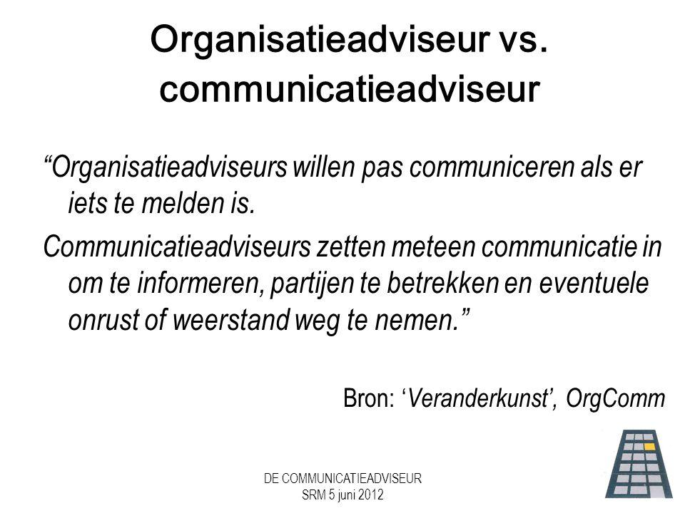 Organisatieadviseur vs. communicatieadviseur