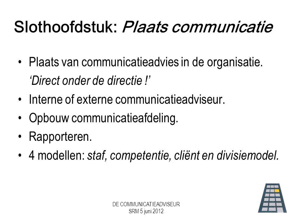 Slothoofdstuk: Plaats communicatie