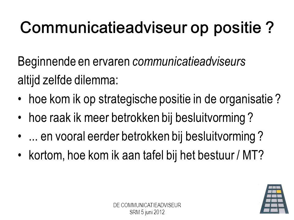 Communicatieadviseur op positie