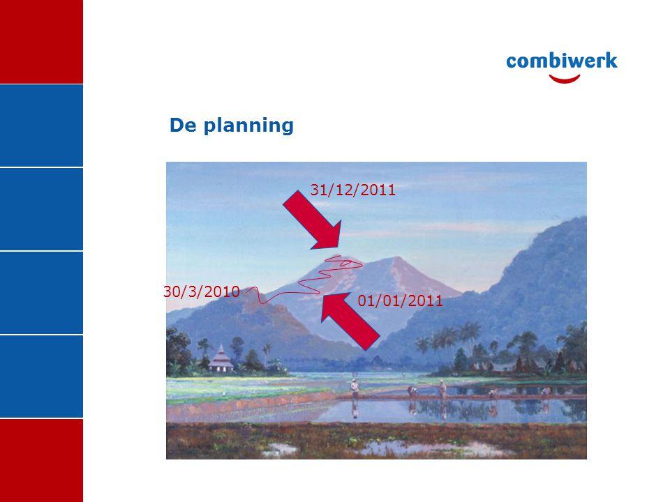 De planning 31/12/2011 30/3/2010 01/01/2011