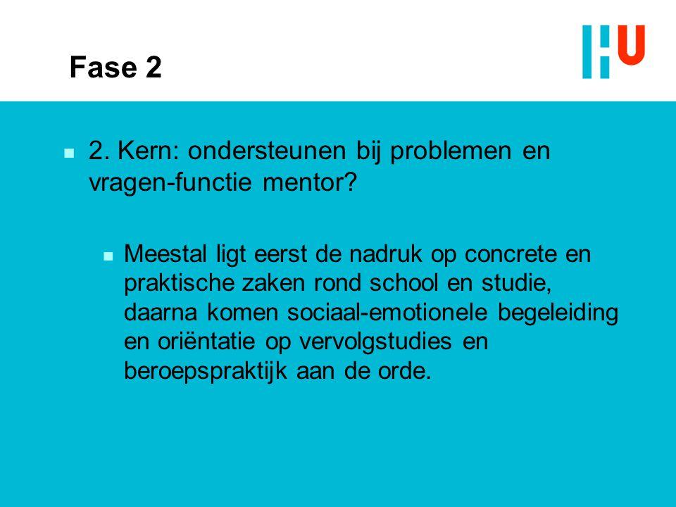 Fase 2 2. Kern: ondersteunen bij problemen en vragen-functie mentor