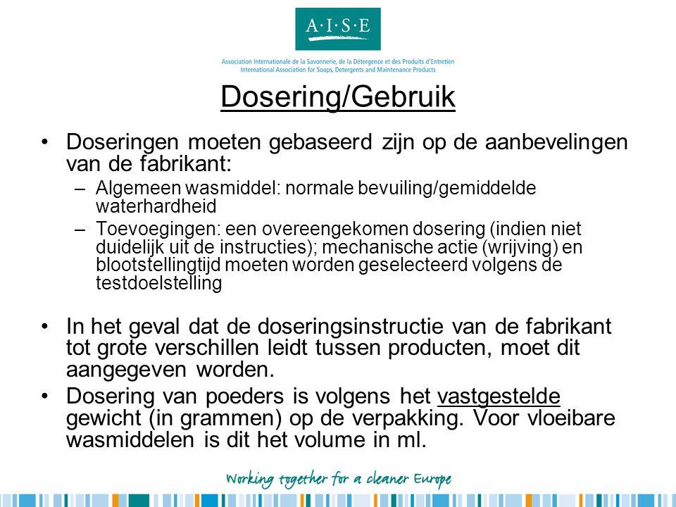 Dosering/Gebruik Doseringen moeten gebaseerd zijn op de aanbevelingen van de fabrikant: