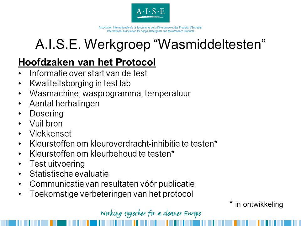 A.I.S.E. Werkgroep Wasmiddeltesten