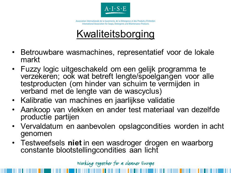 Kwaliteitsborging Betrouwbare wasmachines, representatief voor de lokale markt.