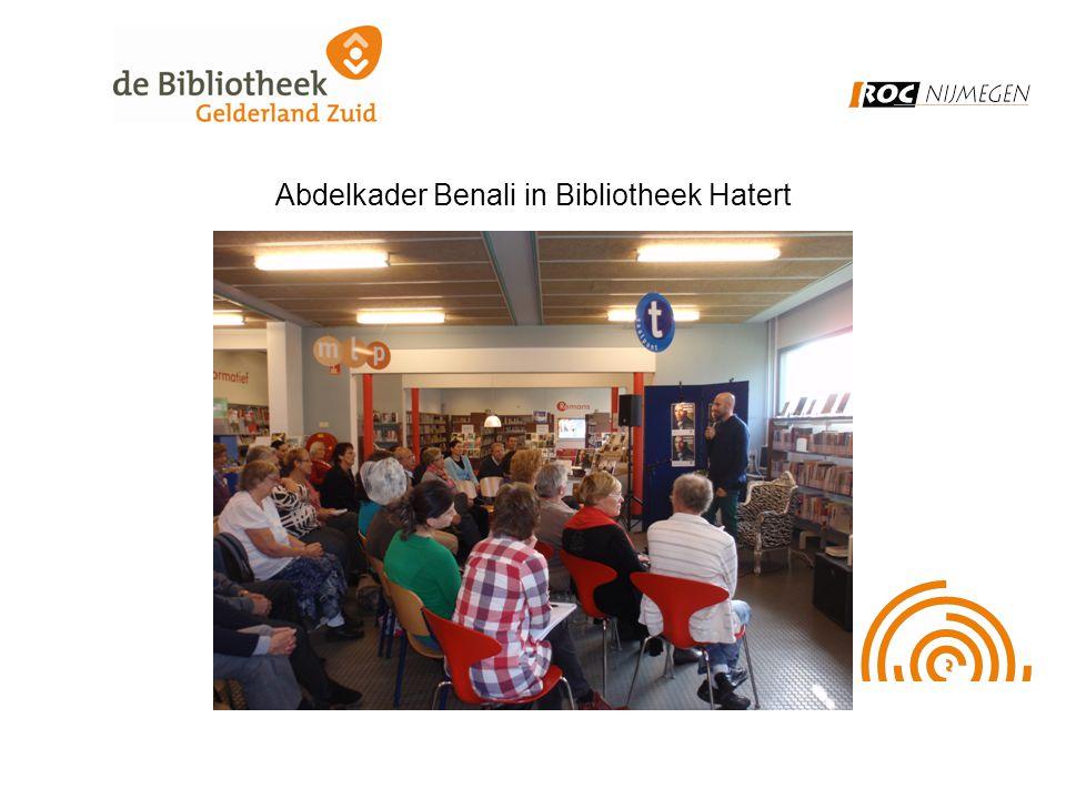 Abdelkader Benali in Bibliotheek Hatert