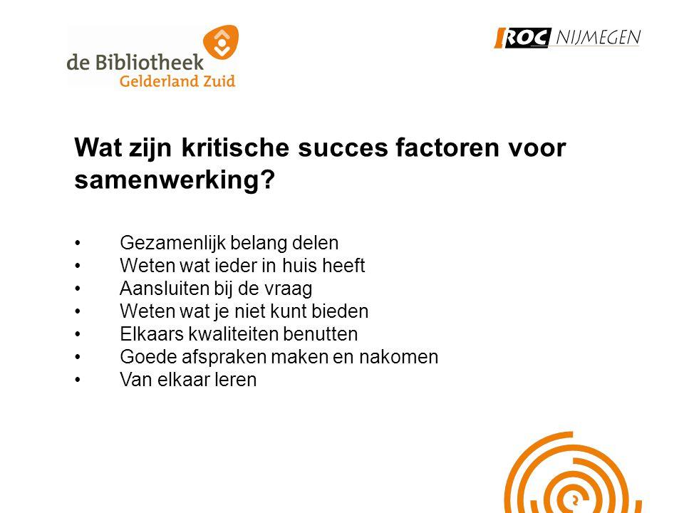 Wat zijn kritische succes factoren voor samenwerking