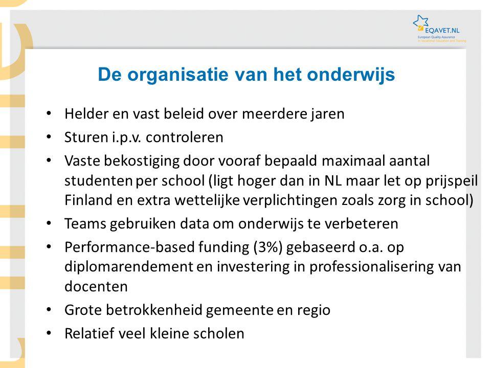 De organisatie van het onderwijs