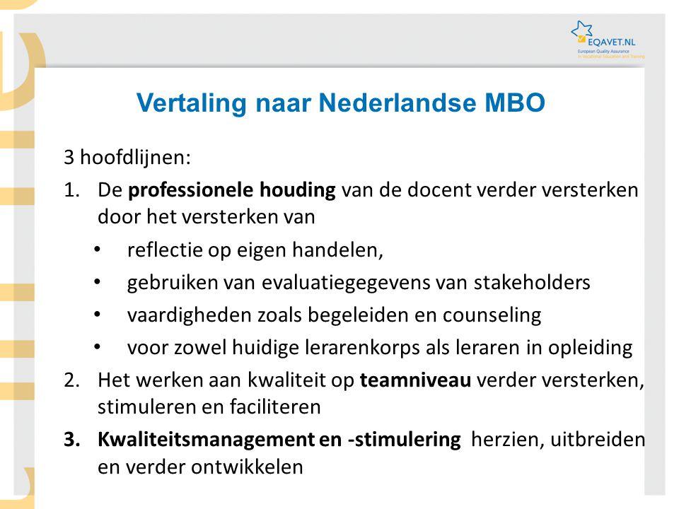 Vertaling naar Nederlandse MBO