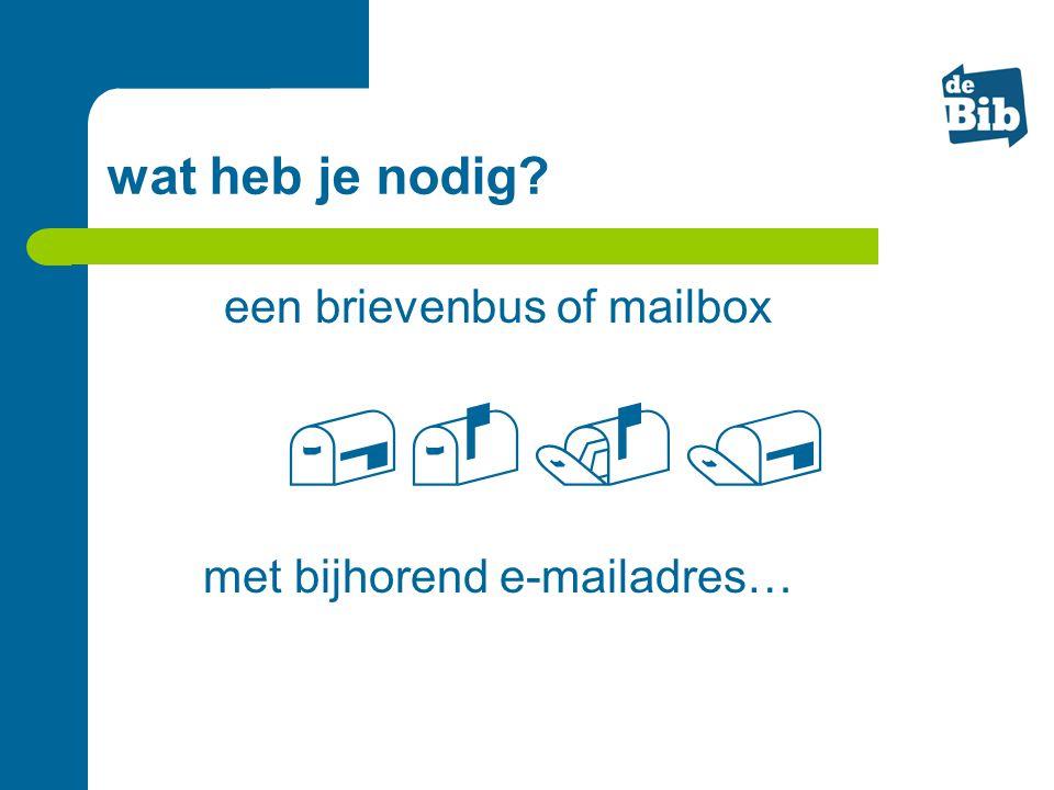  wat heb je nodig een brievenbus of mailbox
