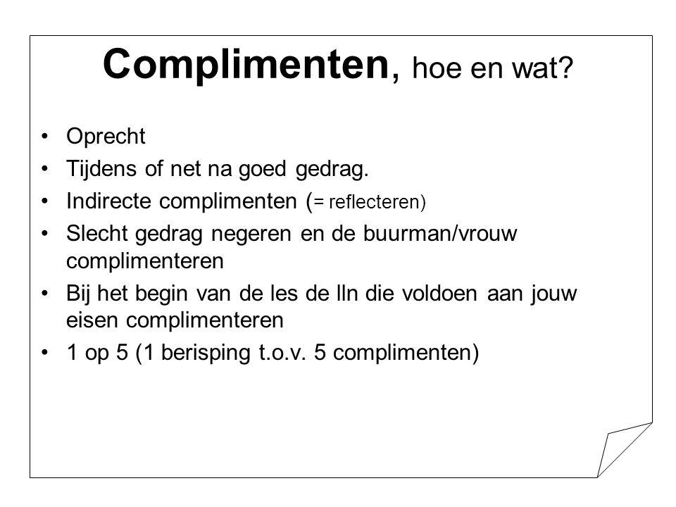 Complimenten, hoe en wat