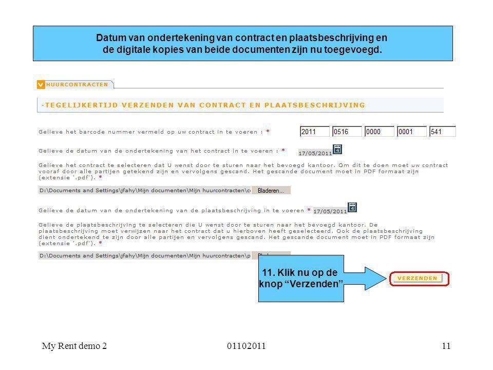 Datum van ondertekening van contract en plaatsbeschrijving en