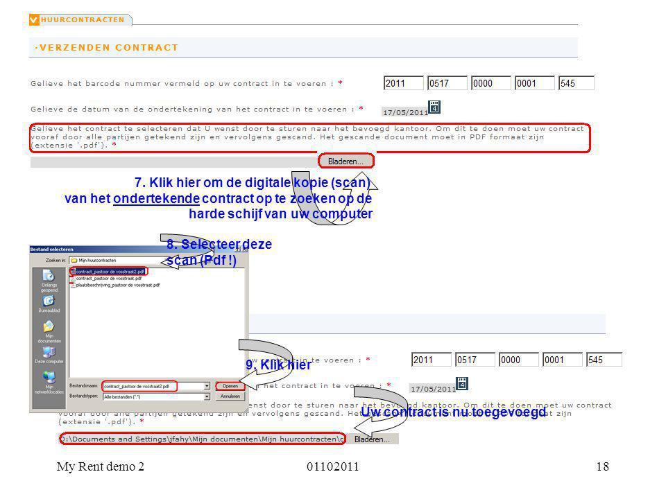 7. Klik hier om de digitale kopie (scan)