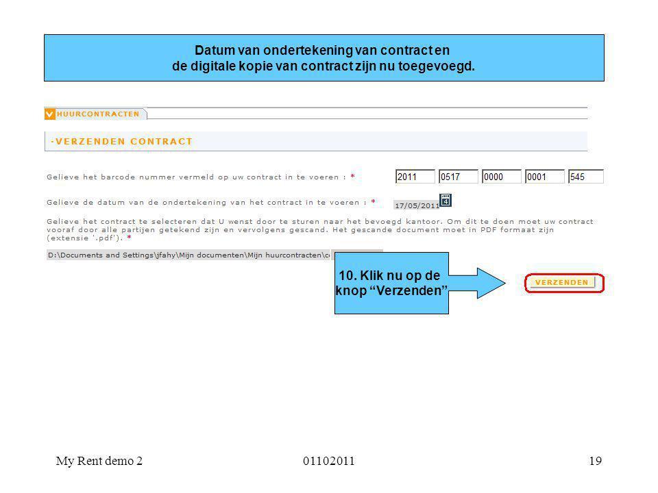 Datum van ondertekening van contract en