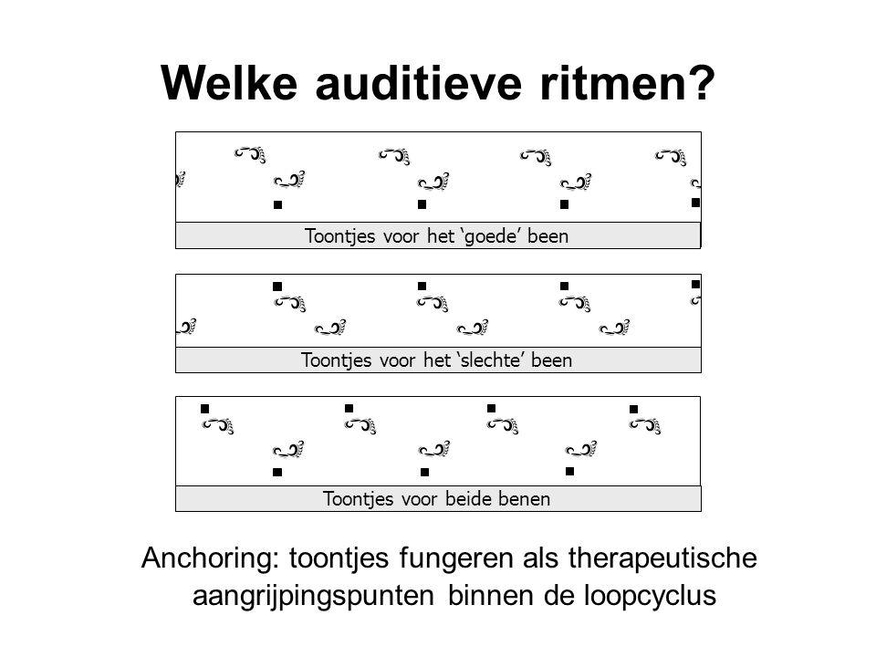 Welke auditieve ritmen