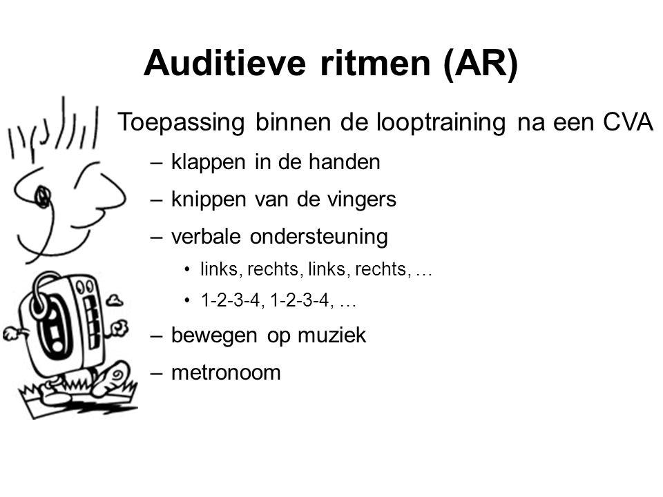 Auditieve ritmen (AR) Toepassing binnen de looptraining na een CVA