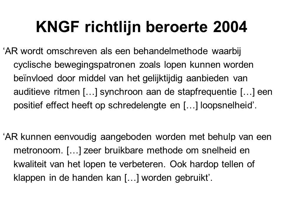 KNGF richtlijn beroerte 2004