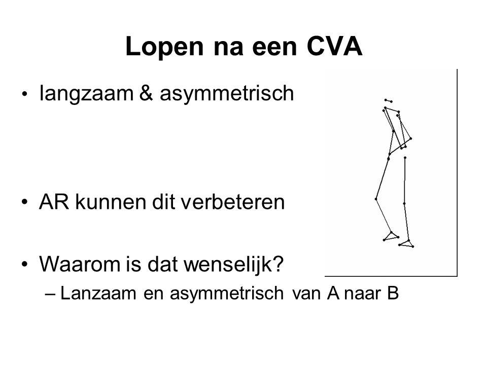 Lopen na een CVA langzaam & asymmetrisch AR kunnen dit verbeteren