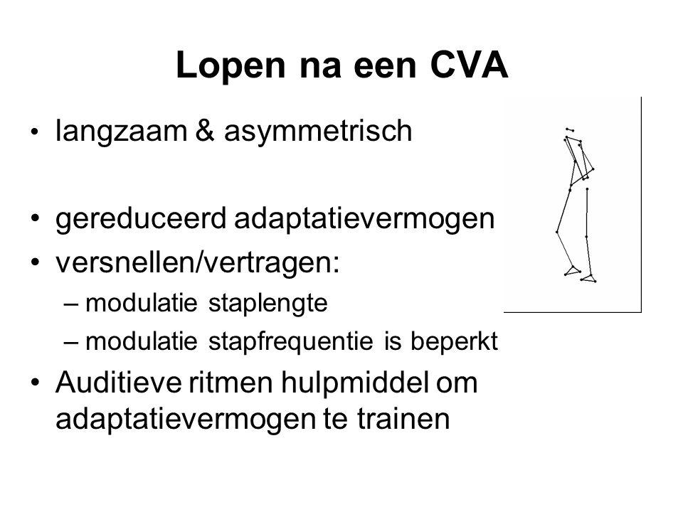 Lopen na een CVA langzaam & asymmetrisch gereduceerd adaptatievermogen